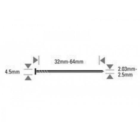 Pointes annelées en inox BOSTITCH - pour N66C - 6600 pièces - N23R55SS316