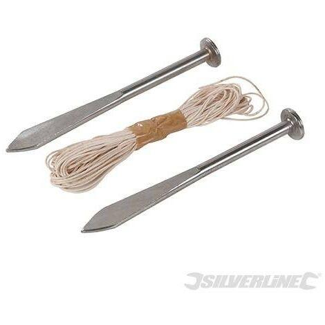 Pointes pour cordeau de maçon, 2 pcs, 160 mm