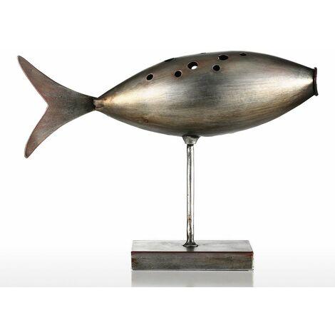 Poisson sous-marin Tooarts Sculpture en m¨¦tal D¨¦coration de la maison D¨¦coration cr¨¦ative Poisson