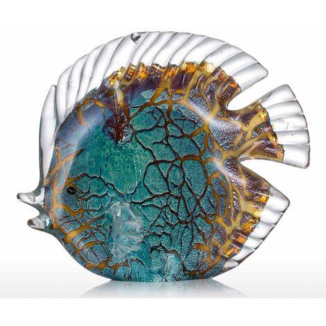 Poisson tropical mouchetetrop de sculpture en verre decoration de la maison poisson en verre