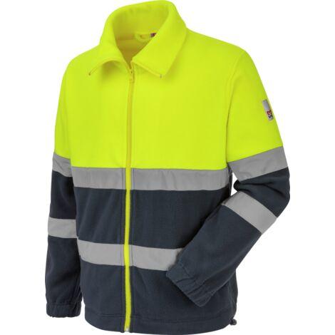 Polaire de travail Würth MODYF haute-visibilité jaune/marine