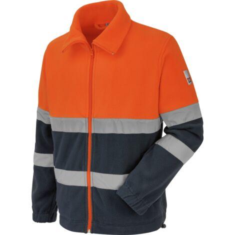 Polaire de travail Würth MODYF haute-visibilité orange/marine