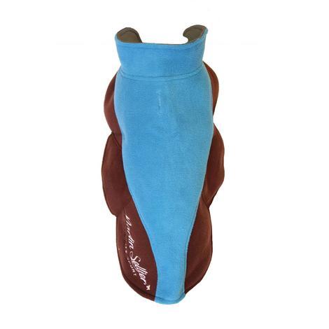 Polaire XXL bleu/marron