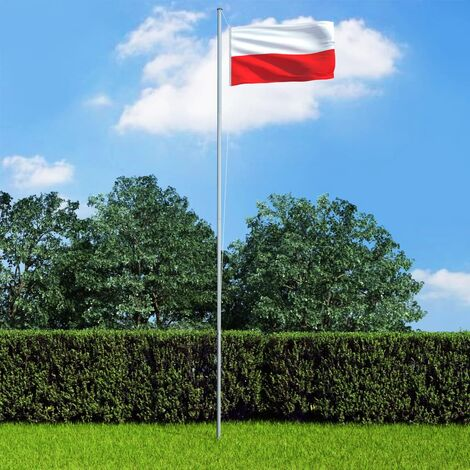 Poland Flag and Pole Aluminium 6,2 m