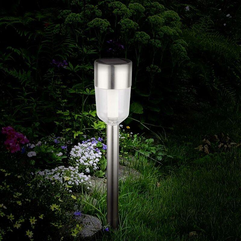 Polarlite Lampada solare da giardino Kit da 5 LED (monocolore) 0.5 W Bianco luce del giorno acciaio inox