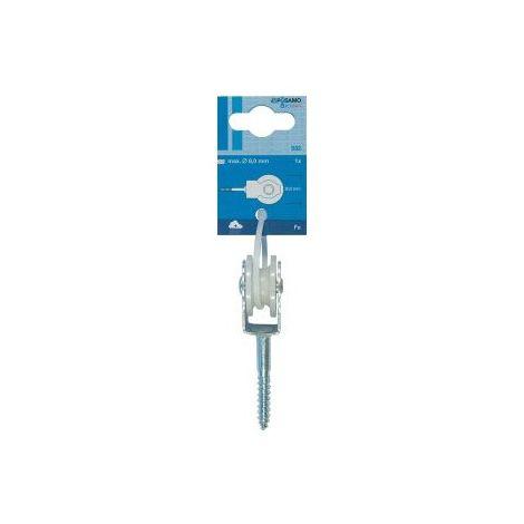 Polea para cable 8mm de 1unidades (por 10)