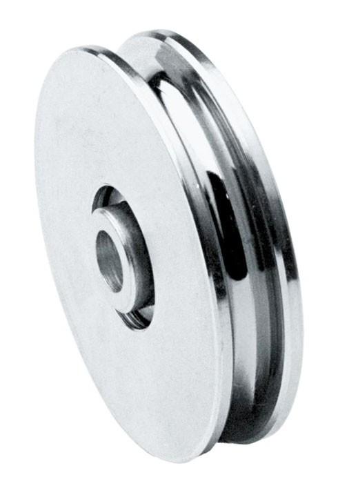 rueda canal U 20 mm Polea con soporte diametro 100 mm puerta correderas en acero cincado