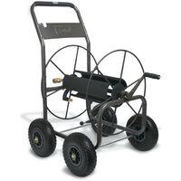 Polet Enrouleur de tuyau d'arrosage à roues professionnel - pour tuyaux 110m 3/4 flexibles