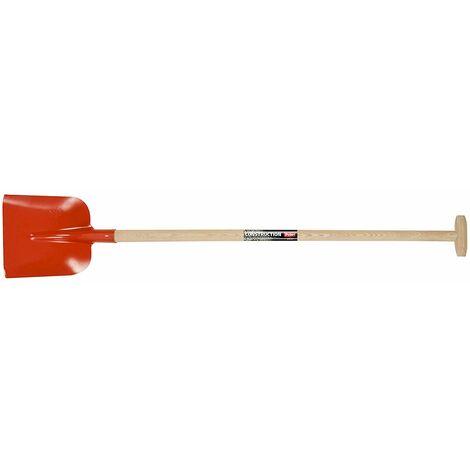 POLET M de 250x 230mm ma-t Raquette pour béton Professionnel modèle hollstein et Manche DE béquille de 95cm, Bois/Rouge