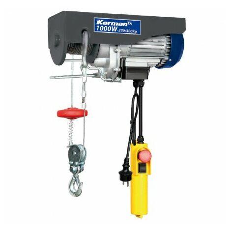 Polipasto eléctrico 1000W – 250-500 kg