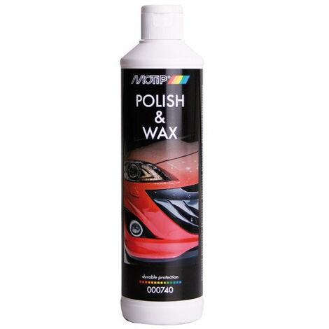 Polish automobile lustrant + cire 500ml POLISH & WAX MOTIP