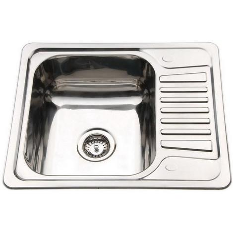 Polished 304/0.8mm Stainless Steel Small Inset CounterTop Mount Kitchen Sink B58