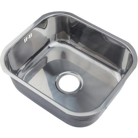 Polished 304 Grade Stainless Steel Undermount Kitchen Sink Bowl 465x410mm (A15 mr)