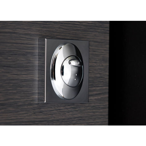 """main image of """"Polished Chrome 70mm x 70mm Square Button Flush Plate Mount"""""""