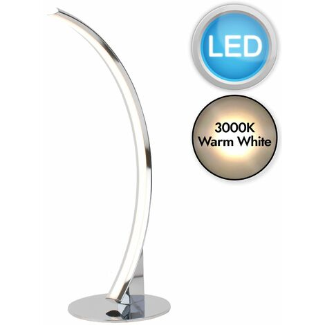 Polished Chrome LED Arc Table Lamp