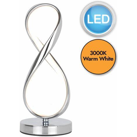 Polished Chrome LED Infinity Table Lamp