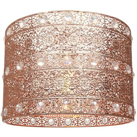 Polished Copper Acrylic Gem Moroccan Style Chandelier Pendant Light Shade by Happy Homewares