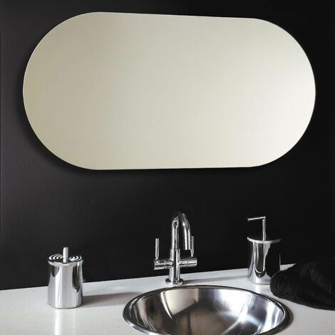 Polished Edge Oblong Bathroom Mirror 500mm x 1000mm Wall Mounted Stylish