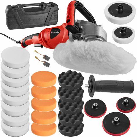 Polishing machine rotary handle 1400W - polishing machine, car polishing machine, car buffer - 26 pc. set