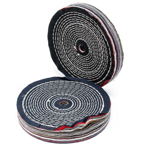 Polishing Pads Set of 2⌀200mm made of hard Fabric for Pre-Polishing and Removal of Scratches