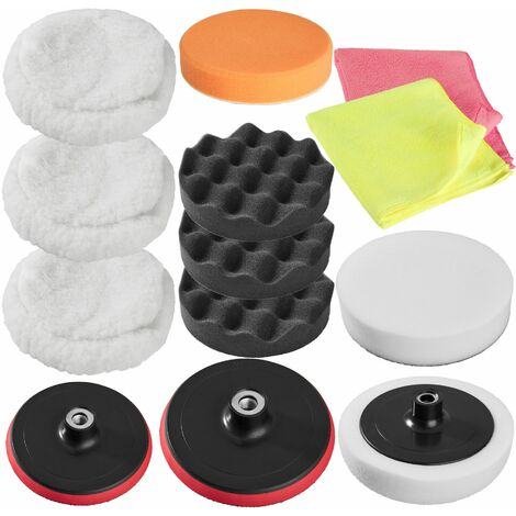 Polishing pads sponge set 13 PCs - polishing pads, car polishing pads, buffing pads - colorful