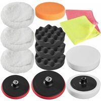 Polishing pads sponge set 13 PCs - polishing pads, car polishing pads, buffing pads - colorful
