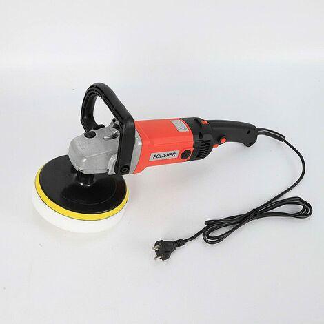 Polisseuse 1400 W Machine à Polir Polisseuse Excentrique, cireuse électrique, polisseuse de sol pour carrelage Polisseuse Orbitale de Tampon avec Poignée pour Le Polissage Cirage Ponçage (Noir)