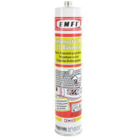 poliuretano blanco sellador EMFI 25 PU edificio 310ml - Blanc