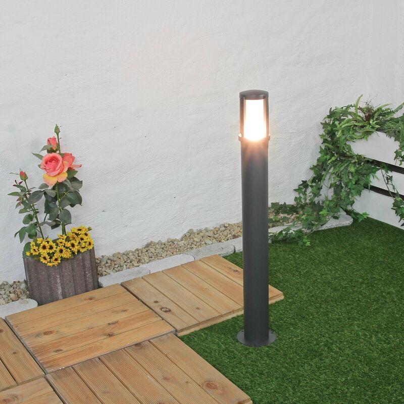 Pollerleuchte Gartenlampe Anthrazit blendarm 90cm - LICHT-ERLEBNISSE