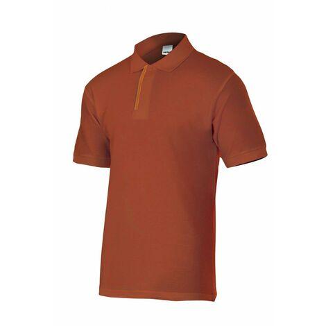 Polo azulina/rojo de manga corta bicolor Serie P105502