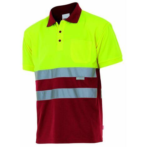 Polo bicolor manga corta alta visibilidad