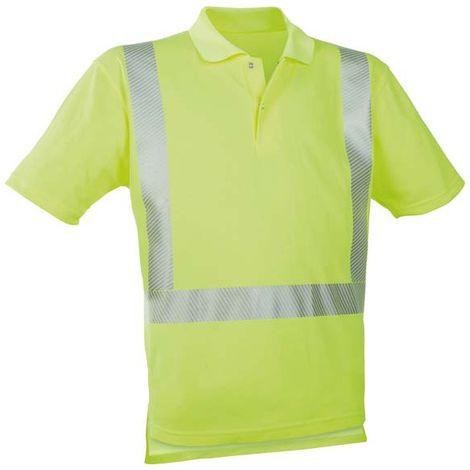 Polo-camiseta alto visibilidad amarillo ,Talla L