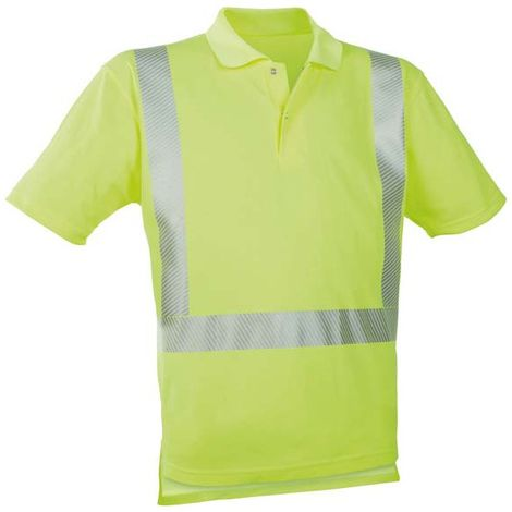 Polo-camiseta alto visibilidad amarillo ,Talla S