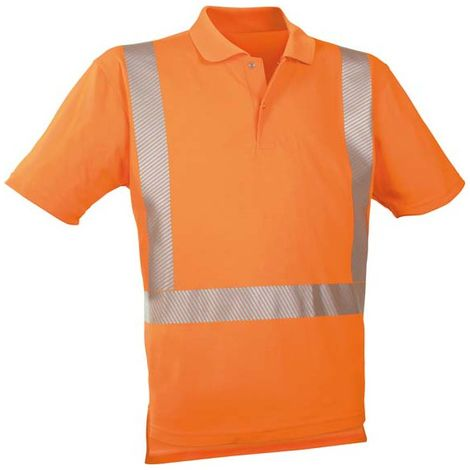 Polo-camiseta alto visibilidad naranja viva ,Talla M