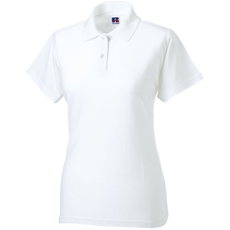Polo Femme Russell Maille Piquée Blanc