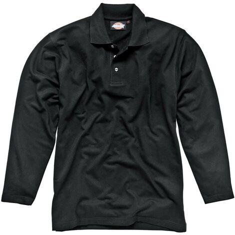 Polo Manches Longues noir- DICKIES - SH21100