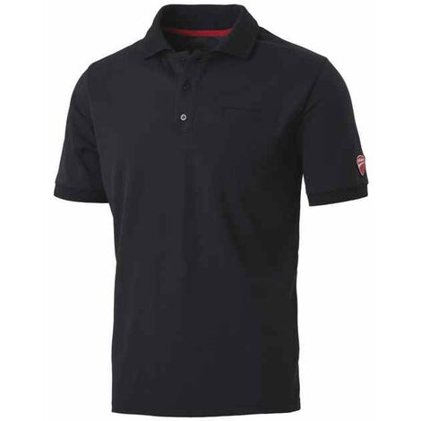 Polo manica corta INN INDIANAPOLIS colore Nero 22DUC2 Ducati Workwear
