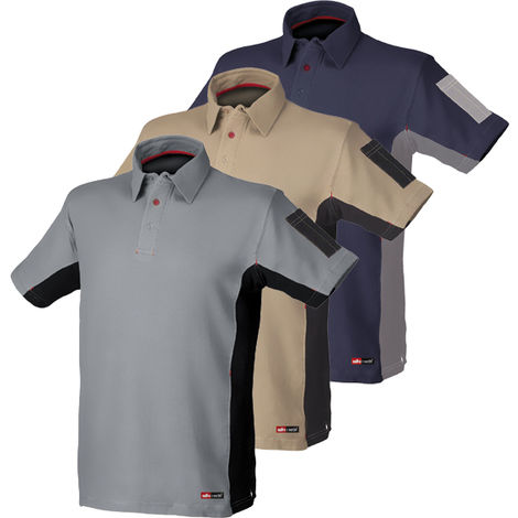 POLO STRETCH GRIS/NEGRO TALLA XXL