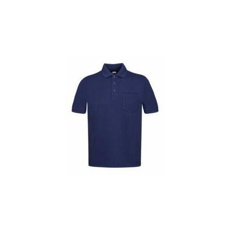 Polo Trabajo L Bolsillo Poliester/Algodon Manga Corta Azul Marino