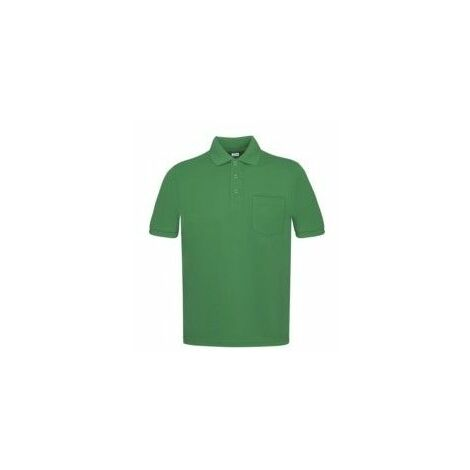 Polo Trabajo L Bolsillo Poliester/Algodon Manga Corta Verde
