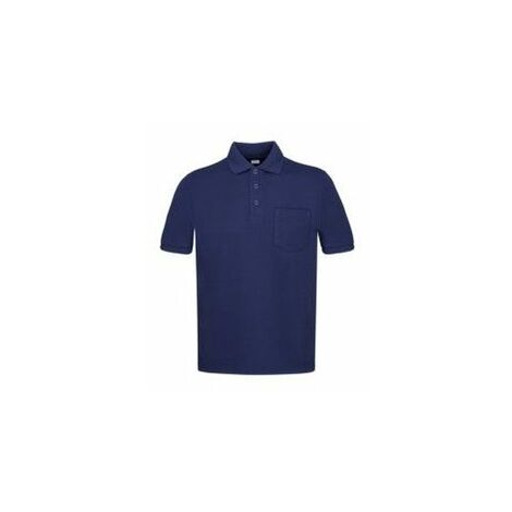 Polo Trabajo Xxl Bolsillo Poliester/Algodon Manga Corta Azul Marino