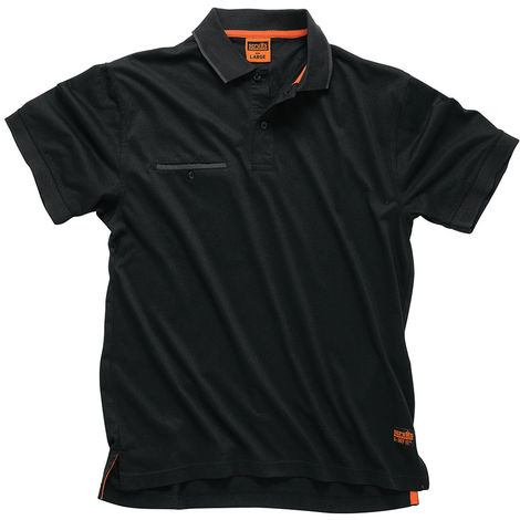 Polo Worker, color negro M - NEOFERR