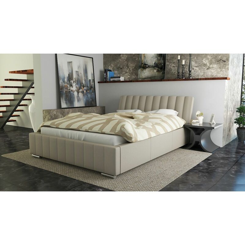 Polsterbett Bett Doppelbett IVANO XS 140x200cm inkl.Lattenrost - FUN MOEBEL