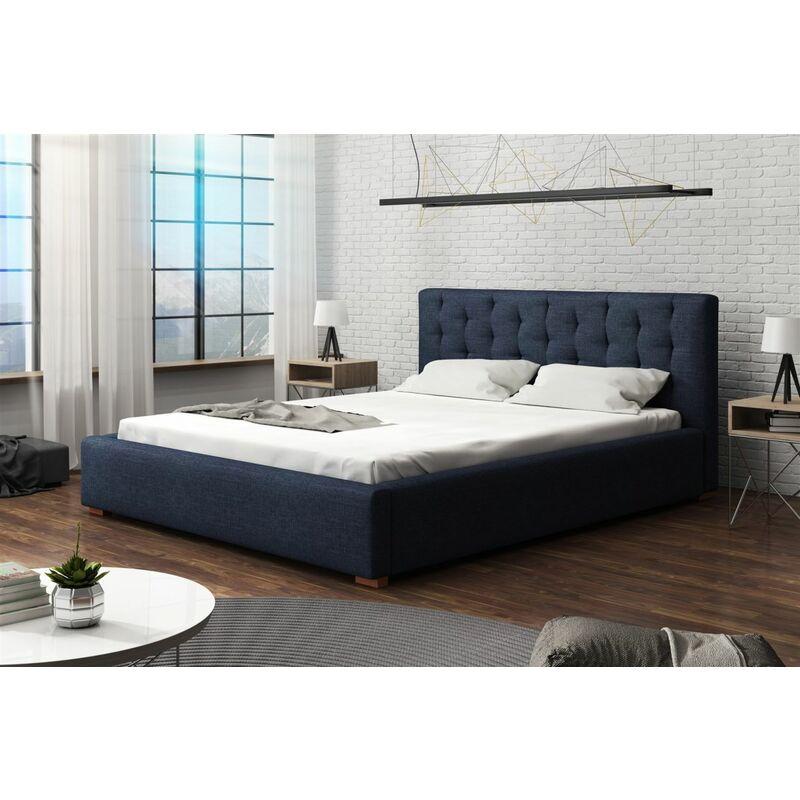 Polsterbett Bett Doppelbett LUCCA (Set 1) Stoff 120x200cm - FUN MOEBEL