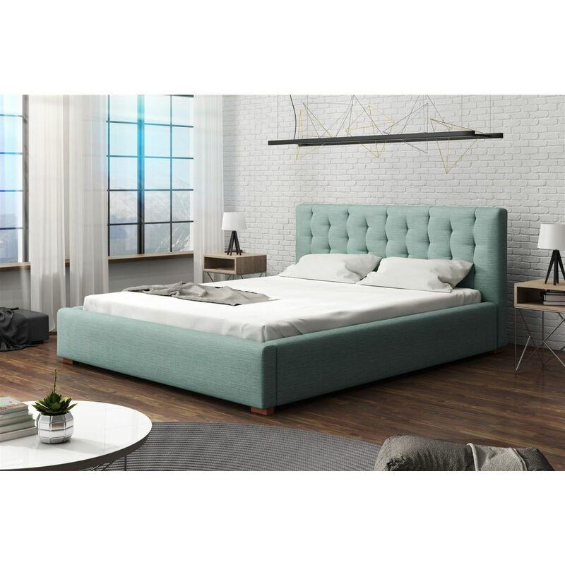 Polsterbett Bett Doppelbett LUCCA Stoff 180x200cm - FUN MOEBEL