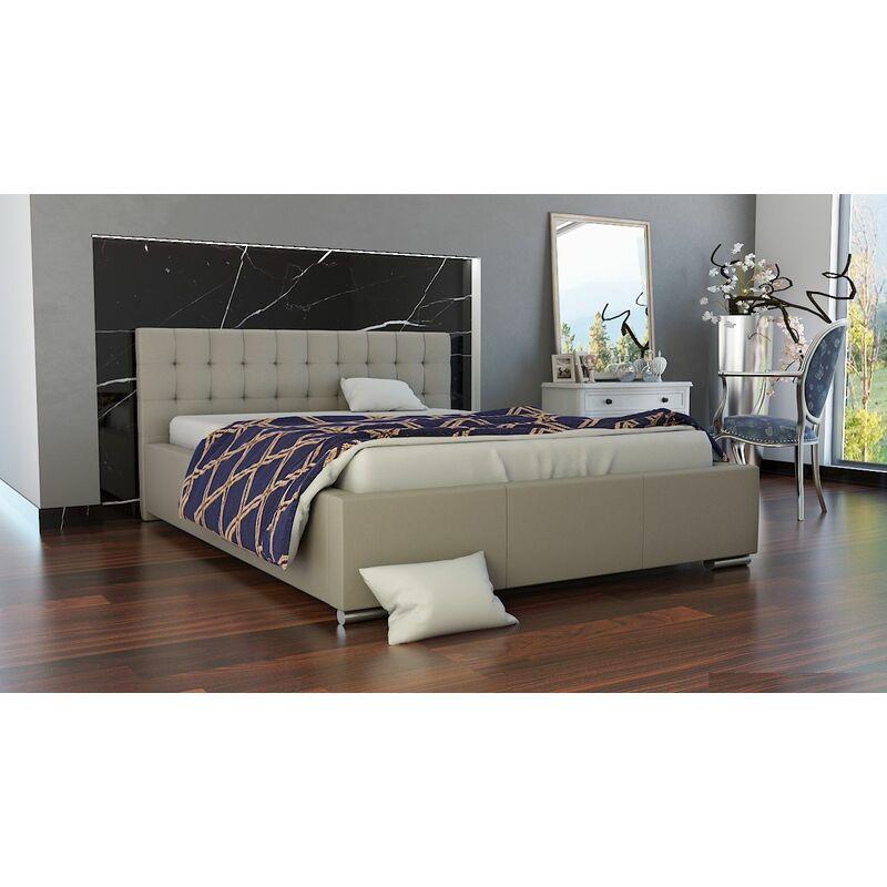 Polsterbett Bett Doppelbett MANILO 160x200cm inkl.Bettkasten - FUN MOEBEL