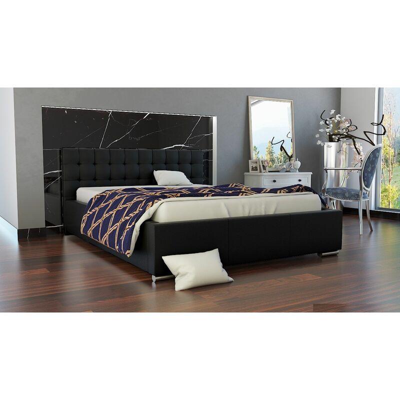 Polsterbett Bett Doppelbett MANILO 200x200cm inkl.Bettkasten - FUN MOEBEL