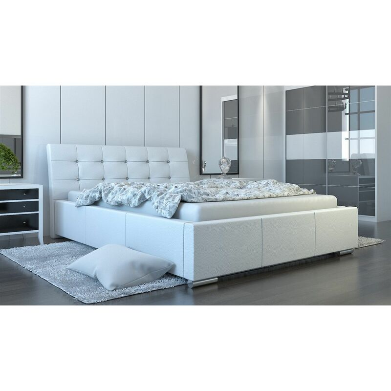 Polsterbett Bett Doppelbett PINO Deluxe 140x200cm inkl.Bettkasten - FUN MOEBEL