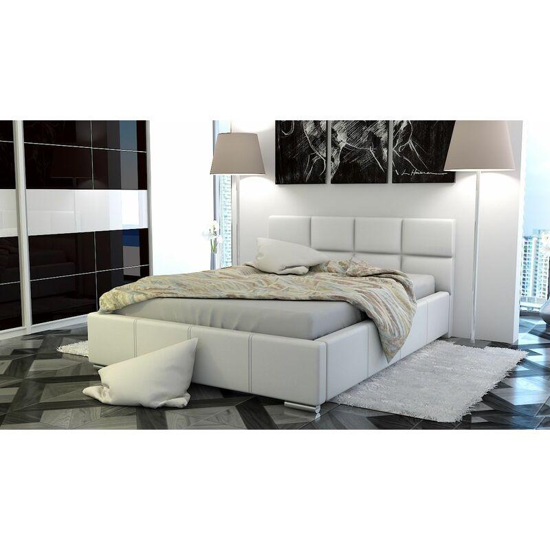 Polsterbett Bett Doppelbett SILVIO 140x200cm inkl.Bettkasten - FUN MOEBEL