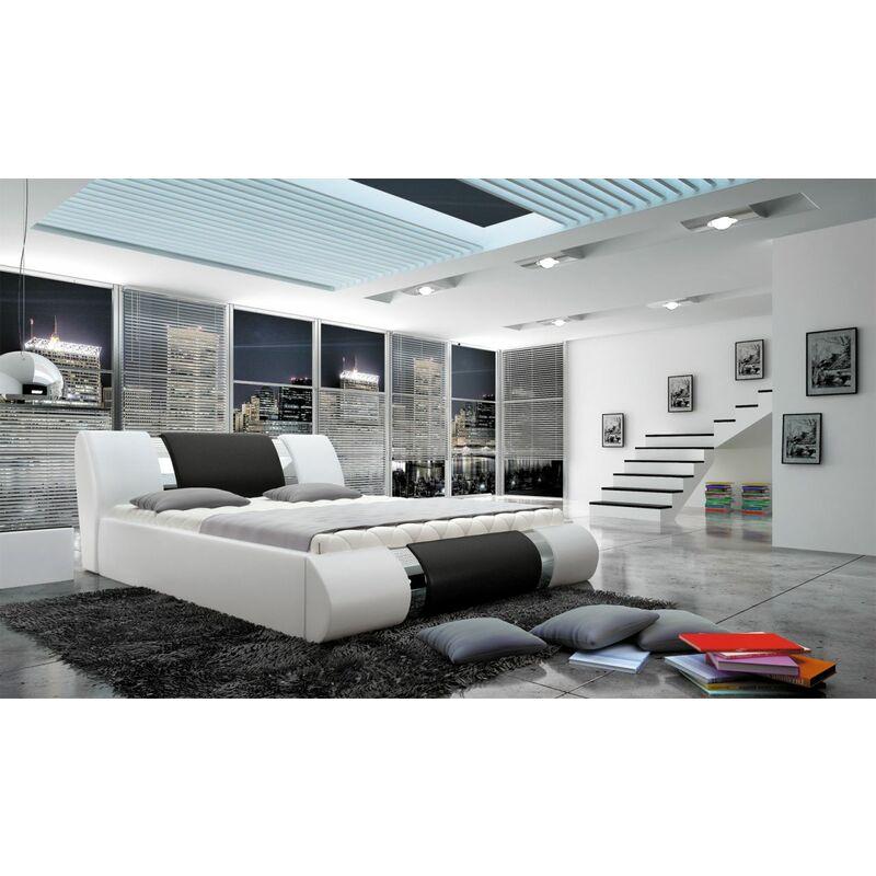 Polsterbett Doppelbett MYTHOS Kunstleder 160x200cm - FUN MOEBEL